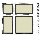 blank postage stamps frames.... | Shutterstock .eps vector #1043379244