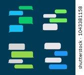 flat messages bubbles    Shutterstock .eps vector #1043381158