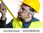 a man who wants to do a work... | Shutterstock . vector #1043383018