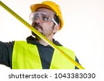 a man who wants to do a work... | Shutterstock . vector #1043383030