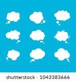 empty talk bubble. text message ...   Shutterstock .eps vector #1043383666
