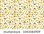 nice hearts love on white ... | Shutterstock . vector #1043383909