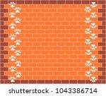 orange brick wall graphic...   Shutterstock .eps vector #1043386714