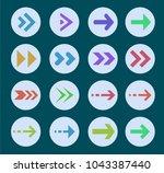 colored arrows. vector icon...   Shutterstock .eps vector #1043387440