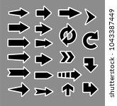 arrow pointers vectors.    Shutterstock .eps vector #1043387449