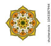 flower mandala. vintage... | Shutterstock .eps vector #1043387944