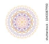 flower mandala. vintage... | Shutterstock .eps vector #1043387950