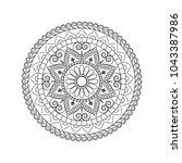 flower mandala. vintage... | Shutterstock .eps vector #1043387986