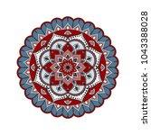 flower mandala. vintage... | Shutterstock .eps vector #1043388028