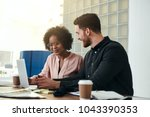 diverse business colleagues... | Shutterstock . vector #1043390353