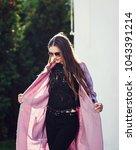 young stylish beautiful woman...   Shutterstock . vector #1043391214