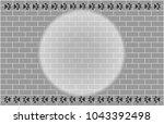 grey brick wall effect light...   Shutterstock .eps vector #1043392498