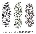 falling granulated tea  green... | Shutterstock . vector #1043393290