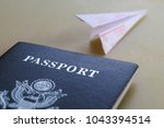 passport on the table and... | Shutterstock . vector #1043394514