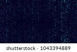 a stream of binary matrix code...   Shutterstock .eps vector #1043394889