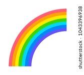 rainbow icon flat | Shutterstock .eps vector #1043396938