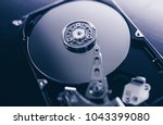 disassembled hard drive from... | Shutterstock . vector #1043399080