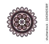 flower mandala. vintage... | Shutterstock .eps vector #1043405389