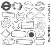 empty stamp frames grunge... | Shutterstock .eps vector #1043410156