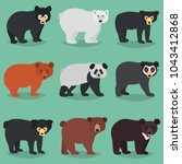 different bears breeds color... | Shutterstock .eps vector #1043412868