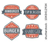 burger quality seal stamp... | Shutterstock .eps vector #1043412934