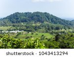 mountain countryside nature... | Shutterstock . vector #1043413294