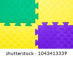 close up of baby playing mat... | Shutterstock . vector #1043413339