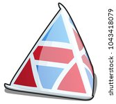a single triangle carton... | Shutterstock .eps vector #1043418079