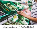 young woman shopping purchase...   Shutterstock . vector #1043418166