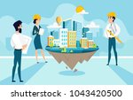 group architects create and... | Shutterstock .eps vector #1043420500
