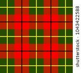 scottish cage  red celtic.... | Shutterstock .eps vector #1043422588