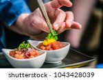 the chef in the kitchen...   Shutterstock . vector #1043428039