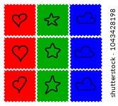 red green blue background.... | Shutterstock .eps vector #1043428198