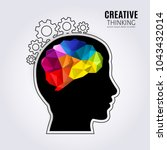 creative mind. concept of the... | Shutterstock .eps vector #1043432014