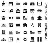 flat vector icon set   school... | Shutterstock .eps vector #1043433160