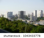 the panorama from the hight to... | Shutterstock . vector #1043433778