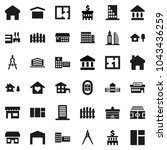 flat vector icon set  ... | Shutterstock .eps vector #1043436259