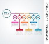 vector infographic template for ...   Shutterstock .eps vector #1043437450