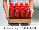 beet juice red smoothie juicing ... | Shutterstock . vector #1043441488