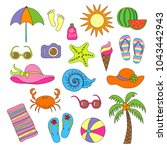 set of handmade symbols and... | Shutterstock .eps vector #1043442943