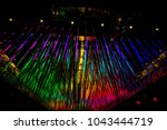 colorful and bright ceiling.... | Shutterstock . vector #1043444719