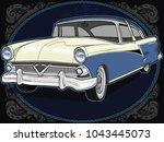 retro vintage vector 60s  50s...   Shutterstock .eps vector #1043445073