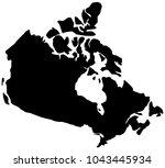 black map of canada | Shutterstock .eps vector #1043445934