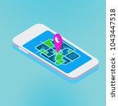 global gps navigation in a...   Shutterstock .eps vector #1043447518