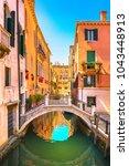 venice cityscape  water canal ... | Shutterstock . vector #1043448913
