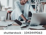responding on business e mail.... | Shutterstock . vector #1043449063