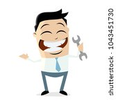 clipart of a happy businessman... | Shutterstock .eps vector #1043451730