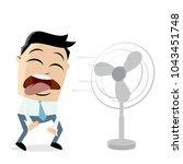 businessman standing in front... | Shutterstock .eps vector #1043451748