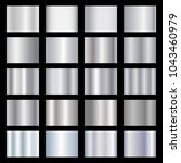 silver gradients metallic... | Shutterstock .eps vector #1043460979