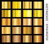 gold gradient metalic texture... | Shutterstock .eps vector #1043461204